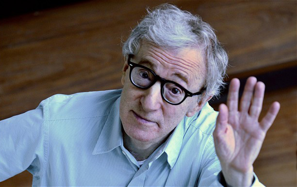 "Woody Allen...U.S. film director Woody Allen gestures as he promotes his new film ""Vicky Cristina Barcelona"", in Barcelona, Spain, Saturday, Sept. 20, 2008. (AP Photo/Manu Fernandez)"